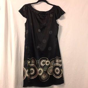 Apostrophe silk dress